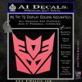 Transformers Decepticon Logo R1 Decal Sticker Pink Emblem 120x120