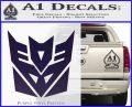 Transformers Decepticon Logo R1 Decal Sticker PurpleEmblem Logo 120x97