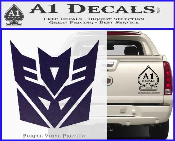 Transformers Decepticon Logo R1 Decal Sticker PurpleEmblem Logo