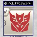Transformers Decepticon Logo R1 Decal Sticker Red 120x120