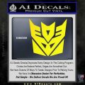 Transformers Decepticon Logo R1 Decal Sticker Yellow Laptop 120x120