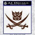 Transformers Decepticon Pirate Decal Sticker BROWN Vinyl 120x120