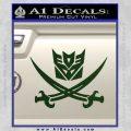 Transformers Decepticon Pirate Decal Sticker Dark Green Vinyl 120x120