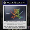 Transformers Decepticon Pirate Decal Sticker Glitter Sparkle 120x120