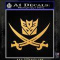 Transformers Decepticon Pirate Decal Sticker Gold Vinyl 120x120