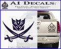 Transformers Decepticon Pirate Decal Sticker PurpleEmblem Logo 120x97