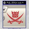 Transformers Decepticon Pirate Decal Sticker Red 120x120