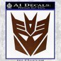 Transformers Decepticons Decal Sticker tf BROWN Vinyl 120x120