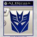 Transformers Decepticons Decal Sticker tf Blue Vinyl 120x120