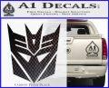 Transformers Decepticons Decal Sticker tf Carbon FIber Black Vinyl 120x97
