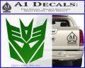 Transformers Decepticons Decal Sticker tf Green Vinyl Logo 120x97