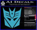 Transformers Decepticons Decal Sticker tf Light Blue Vinyl 120x97