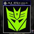 Transformers Decepticons Decal Sticker tf Lime Green Vinyl 120x120