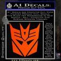 Transformers Decepticons Decal Sticker tf Orange Emblem 120x120
