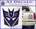 Transformers Decepticons Decal Sticker tf PurpleEmblem Logo 120x97