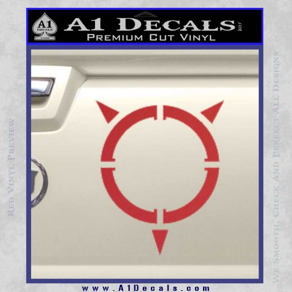 Transformers Energon Decal Sticker Red