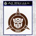 Transformers Nest Emblem D1 Decal Sticker BROWN Vinyl 120x120
