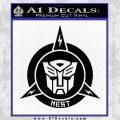 Transformers Nest Emblem D1 Decal Sticker Black Vinyl 120x120