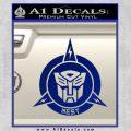 Transformers Nest Emblem D1 Decal Sticker Blue Vinyl 120x120