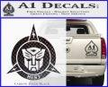 Transformers Nest Emblem D1 Decal Sticker Carbon FIber Black Vinyl 120x97