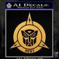 Transformers Nest Emblem D1 Decal Sticker Gold Vinyl 120x120