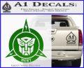 Transformers Nest Emblem D1 Decal Sticker Green Vinyl Logo 120x97
