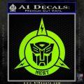 Transformers Nest Emblem D1 Decal Sticker Lime Green Vinyl 120x120