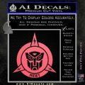 Transformers Nest Emblem D1 Decal Sticker Pink Emblem 120x120