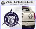 Transformers Nest Emblem D1 Decal Sticker PurpleEmblem Logo 120x97