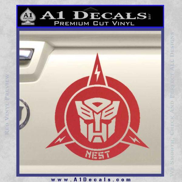Transformers Nest Emblem D1 Decal Sticker Red