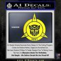 Transformers Nest Emblem D1 Decal Sticker Yellow Laptop 120x120