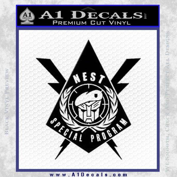 Transformers Nest Emblem D4 Decal Sticker Black Vinyl