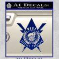 Transformers Nest Emblem D4 Decal Sticker Blue Vinyl 120x120