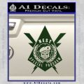 Transformers Nest Emblem D4 Decal Sticker Dark Green Vinyl 120x120