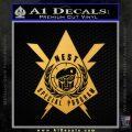 Transformers Nest Emblem D4 Decal Sticker Gold Vinyl 120x120