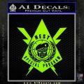 Transformers Nest Emblem D4 Decal Sticker Lime Green Vinyl 120x120