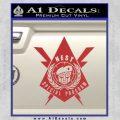 Transformers Nest Emblem D4 Decal Sticker Red 120x120