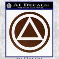 AA Alcoholics Anonymous CT D3 Decal Sticker BROWN Vinyl 120x120