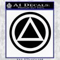 AA Alcoholics Anonymous CT D3 Decal Sticker Black Vinyl 120x120