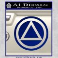 AA Alcoholics Anonymous CT D3 Decal Sticker Blue Vinyl 120x120