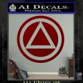 AA Alcoholics Anonymous CT D3 Decal Sticker DRD Vinyl 120x120
