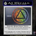 AA Alcoholics Anonymous CT D3 Decal Sticker Glitter Sparkle 120x120