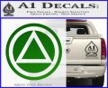 AA Alcoholics Anonymous CT D3 Decal Sticker Green Vinyl Logo 120x97