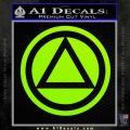 AA Alcoholics Anonymous CT D3 Decal Sticker Lime Green Vinyl 120x120