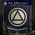 AA Alcoholics Anonymous CT D3 Decal Sticker Metallic Silver Emblem 120x120