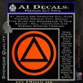 AA Alcoholics Anonymous CT D3 Decal Sticker Orange Emblem 120x120