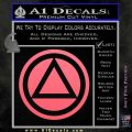 AA Alcoholics Anonymous CT D3 Decal Sticker Pink Emblem 120x120