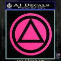 AA Alcoholics Anonymous CT D3 Decal Sticker Pink Hot Vinyl 120x120