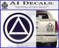 AA Alcoholics Anonymous CT D3 Decal Sticker PurpleEmblem Logo 120x97