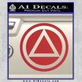 AA Alcoholics Anonymous CT D3 Decal Sticker Red 120x120